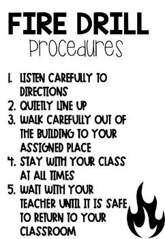 Drill Procedures Poster