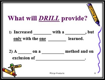 The Difference Between Drill and Practice in Mathematics: A Teaching Power Point
