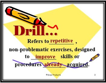 The Difference Between Drill & Practice in Math: A Teaching EDITABLE Power Point