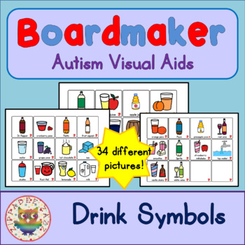 Drink Cards - Boardmaker Visual Aids for Autism SPED