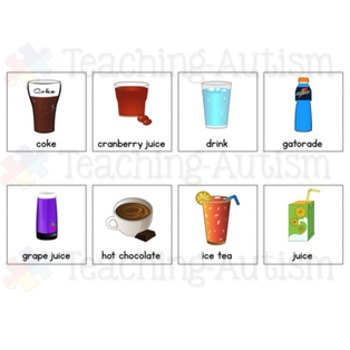 Drink Symbol Communication Cards - Autism