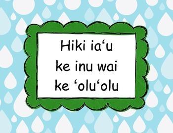 Drink Water Sign in Hawaiian
