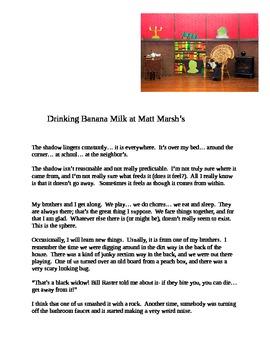 """""""Drinking Banana Milk at Matt Marsh's"""" New Book Trailer"""