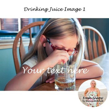 Drinking Juice Image 1