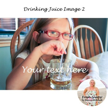 Drinking Juice Image 2