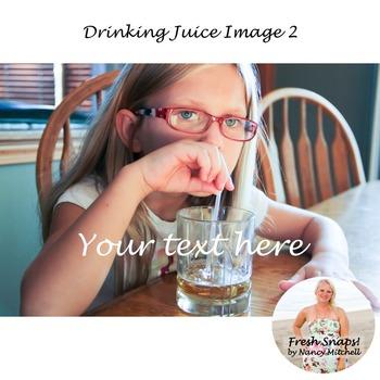 Drinking Juice Image 2