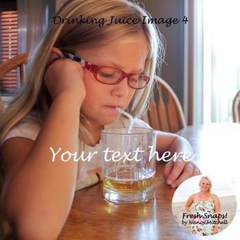 Drinking Juice Image 4