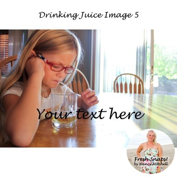Drinking Juice Image 5