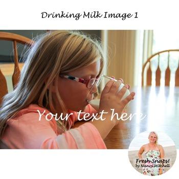 Drinking Milk Image 1