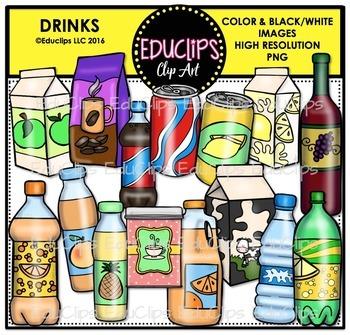 Drinks Clip Art Bundle