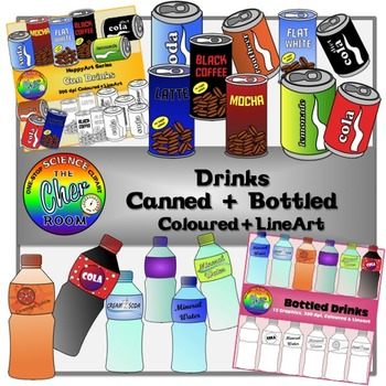 Drinks Clipart (Canned and Bottled)