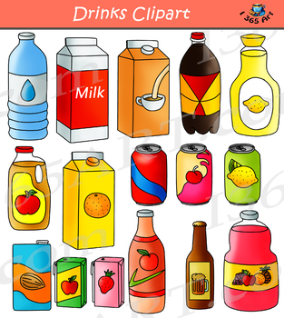 Drinks Clipart Graphics Pack