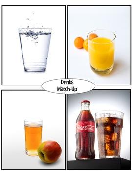 Drinks Match-Up File Folder Game