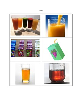 Drinks Picture Cards