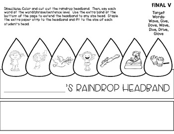Drip Drop Articulation Headbands