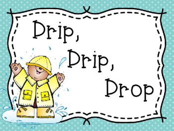 Drip, Drop, Drop Rainy Day Tens Frames