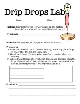 Drip Drop - Surface Tension Lab