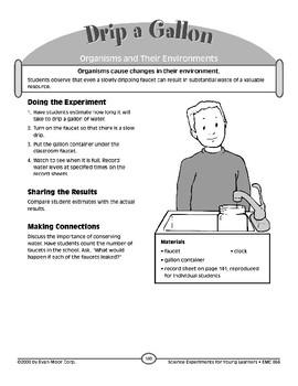 Drip a Gallon (Organisms and Their Environments)