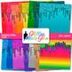 Dripping Glitter Scrapbook Paper Backgrounds {Glitter Meets Glue}