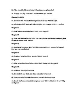 Drita, My Homegirl Comprehension Questions