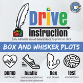 Drive Instruction - Box & Whisker Plots - EDITABLE Slides, Notes & Tests+++