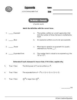 Drive Instruction - Exponents - EDITABLE Warmups, Slides, Notes & Tests+++