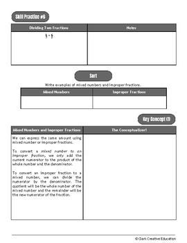 Drive Instruction - Fractions - EDITABLE Warmups, Slides, Notes & Tests