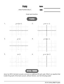 Drive Instruction - Linear Functions - EDITABLE Warm-Ups & Exit Tickets