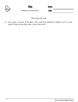 Drive Instruction - Measures of Center - EDITABLE Warm-Ups & Exit Tickets