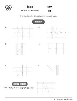 Drive Instruction - Piecewise Functions - EDITABLE Warm-Ups & Exit Tickets