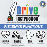 Drive Instruction - Piecewise Functions - EDITABLE Notes / Slides / Test +++