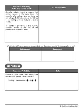 Drive Instruction - Probability - EDITABLE Warm-Ups, Slides, Notes & Test