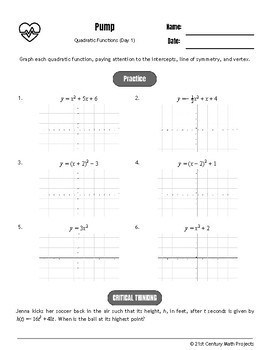 Drive Instruction - Quadratic Functions - EDITABLE Warm-Ups & Exit Tickets