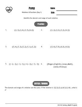 Drive Instruction - Relations & Functions - EDITABLE Warm-Ups & Exit Tickets