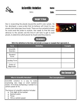 Drive Instruction - Scientific Notation - EDITABLE Slides, Notes & Tests+++