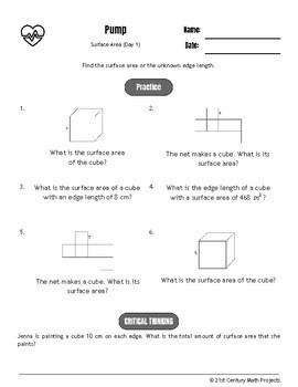 Drive Instruction - Surface Area - EDITABLE Warm-Ups & Exit Tickets