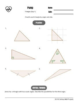 Drive Instruction - Triangles - EDITABLE Warm-Ups & Exit Tickets