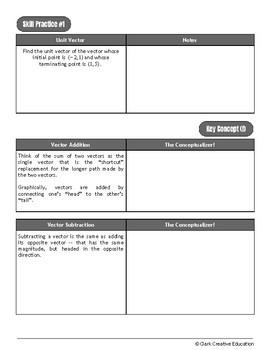 Drive Instruction - Vectors - EDITABLE Warm-Ups, Notes, Slides, Test +++