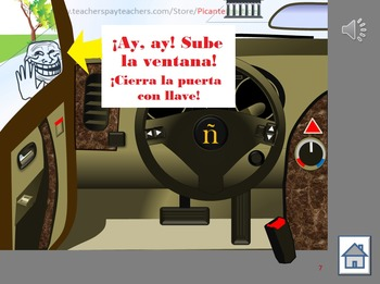 Drive a car in Mexicali to practice commands, directions, transportation! Lvl 3