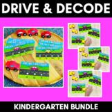 Drive & Decode TASK CARDS | Kindy Phonics | Blending CVC & Common Digraphs