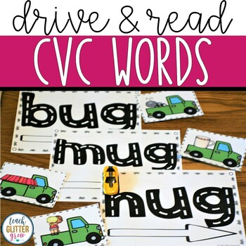 Drive and Learn Hands-On Math and Literacy Center Activities