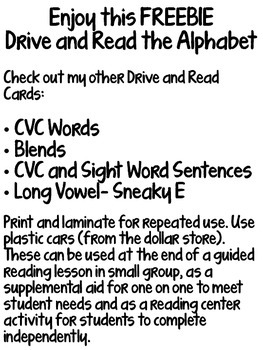 Drive and Read the Alphabet