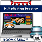 Drive in Multiplication 3.OA.7 (Boom Cards)
