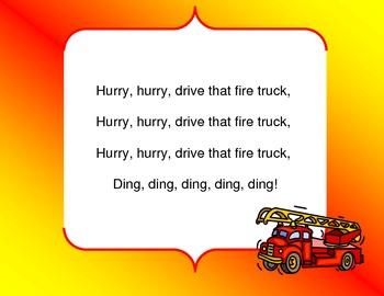 Drive that Fire Truck Song