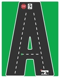 Drive the Alphabet Highway - Road Letters - ROAD COLLECTION