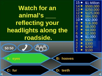Driver Education Millionaire Review Game
