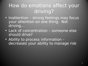 Driver Education PowerPoint **Knowing Yourself**