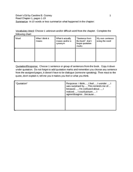 Driver's Ed Small Group Packet
