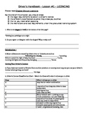 Driver's Handbook Lesson 1 Answer Key