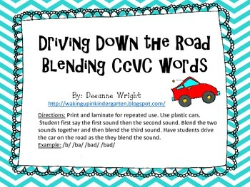 Driving Down the Road Blending CCVC words